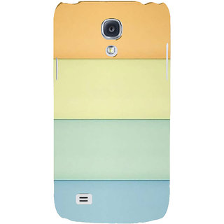 Ifasho Designer Back Case Cover For Samsung Galaxy S4 I9500 :: Samsung I9500 Galaxy S4 :: Samsung I9505 Galaxy S4 :: Samsung Galaxy S4 Value Edition I9515 I9505G (Yellow Light Blue Orange Red Light Green )