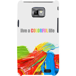 Ifasho Designer Back Case Cover For Samsung Galaxy S2 I9100 :: Samsung I9100 Galaxy S Ii (Emotional   Parallel )