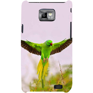 Ifasho Designer Back Case Cover For Samsung Galaxy S2 I9100 :: Samsung I9100 Galaxy S Ii (Senegal Rose Breasted Cockatoo)