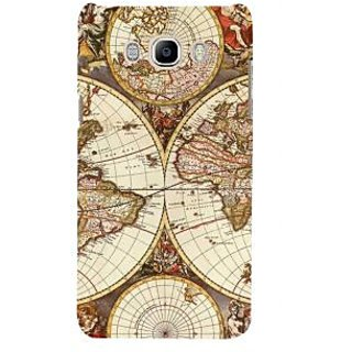 Ifasho Designer Back Case Cover For Samsung Galaxy J7 (6) 2016 :: Samsung Galaxy J7 2016 Duos :: Samsung Galaxy J7 2016 J710F J710Fn J710M J710H  (Globe Big Size Globe Casual Shoes Globe Artichoke)