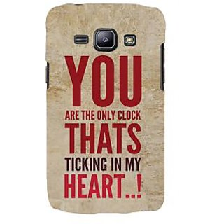 Ifasho Designer Back Case Cover For Samsung Galaxy J2 J200G (2015) :: Samsung Galaxy J2 Duos (2015) :: Samsung Galaxy J2 J200F J200Y J200H J200Gu  (You Are The Only Clock In My Heart)