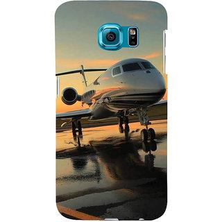 Ifasho Designer Back Case Cover For Samsung Galaxy S6 G920I :: Samsung Galaxy S6 G9200 G9208 G9208/Ss G9209 G920A G920F G920Fd G920S G920T (Paper Plane Design Plane Engine Plane Bangles For Women)