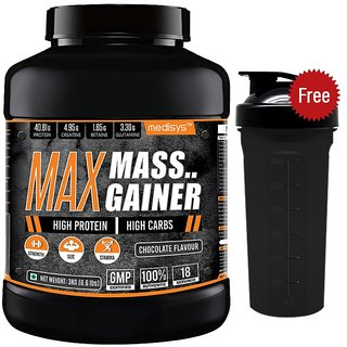 Medisys Max Mass Gainer (3Kg / 6.61lbs, Chocolate)