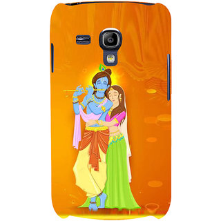 Ifasho Designer Back Case Cover For Samsung Galaxy S3 Mini I8190 :: Samsung I8190 Galaxy S Iii Mini :: Samsung I8190N Galaxy S Iii Mini  (Gopi Kanhaiya Kanha Lord Mayur Peacock Feather)