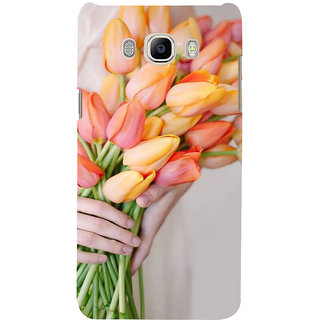 Ifasho Designer Back Case Cover For Samsung Galaxy J7 (6) 2016 :: Samsung Galaxy J7 2016 Duos :: Samsung Galaxy J7 2016 J710F J710Fn J710M J710H  (Tagetes Erecta[2] Rose Aroma Oil Rose Quartz Pendant Aster )