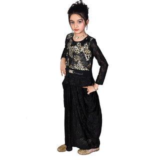 gungun pari black two in one party wear dress