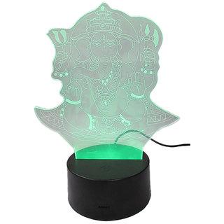 Hi Night Lamp 3D LED Hologram Multicolor - Lord Ganesha