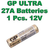 27A GP Battery 1 Pieces Pack. 12V Alkaline Battery. MN27 V27GA L828 A27 G27A FS.