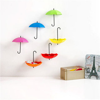 3Pcs Colorful Umbrella Shape Wall Hook Small Decorative Objects