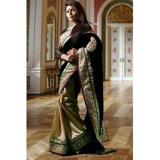 Women's Clothing Saree For Women Latest Design Wear Sarees Collection in black Coloured Georgette Material Latest Saree