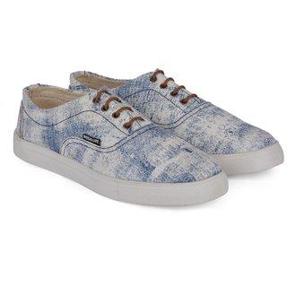 Wega Life JAYLIN White/Blue Canvas Shoes