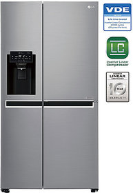 Lg 668 L Gc-L247Sluv Side In Side Sidse Side Refrigerator - Shiney Steel