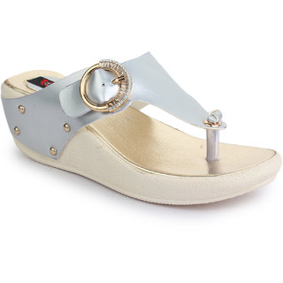 Naisha Women S Silver Wedges