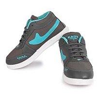 World WEAR Footwear Men Gray,Blue Lace-up Casual Shoes