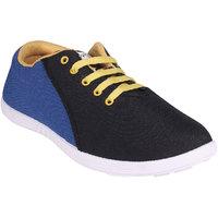 World WEAR Footwear Men Black,Blue Lace-up Casual Shoes