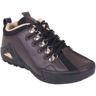 World WEAR Footwear Men Brown Lace-up Casual Shoes For Men