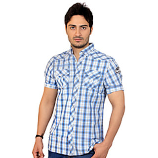 Light Blue Summer Casual Shirt (Medium)