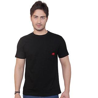 Rynos Round neck T-shirt (BLACK) (Medium)