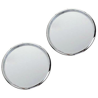 Bike  Car Blind Spot Convex Rear View Mirror Chrome Corners
