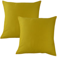 """HOME KOUTURE CLASSIC YELLOW IN 16""""X16"""" (SET OF 2)"""
