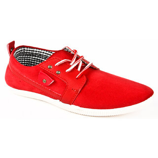BNG Men's Stylish Casual Shoes (Red)