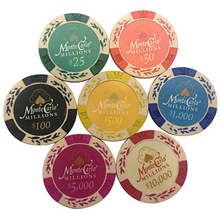 Monte Carlo Poker Clay Chips