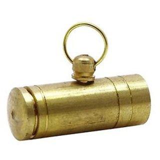 Brass Tabiz/Taweez - Spiritual Luck Protection Gold Taweez Charm Power Amulet Locket Love Pendant (Pack of 3)