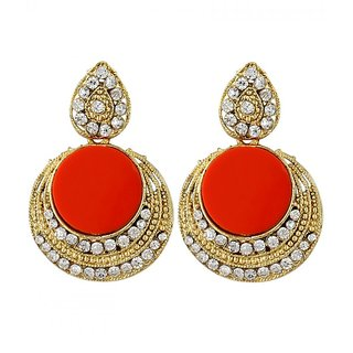Penny Jewels Fashion Designer Unique Traditional Latest  Multi Color Earring Set For Women  Girls