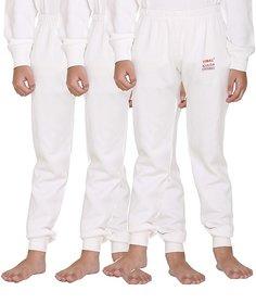 Vimal-Jonney Premium Blended White Thermal Lower For Girls(Pack Of 3)