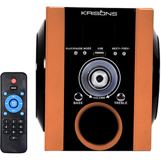 Krisons Multimedia Speaker With FM/USB And Aux (Golden)