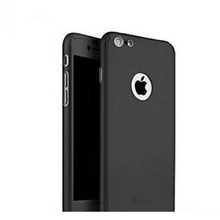 Finbar IPAKY 360 Degree Protective Slim Fit Case Cover with Tempered Glass Screen Protector for Apple iPhone 7G - BLACK