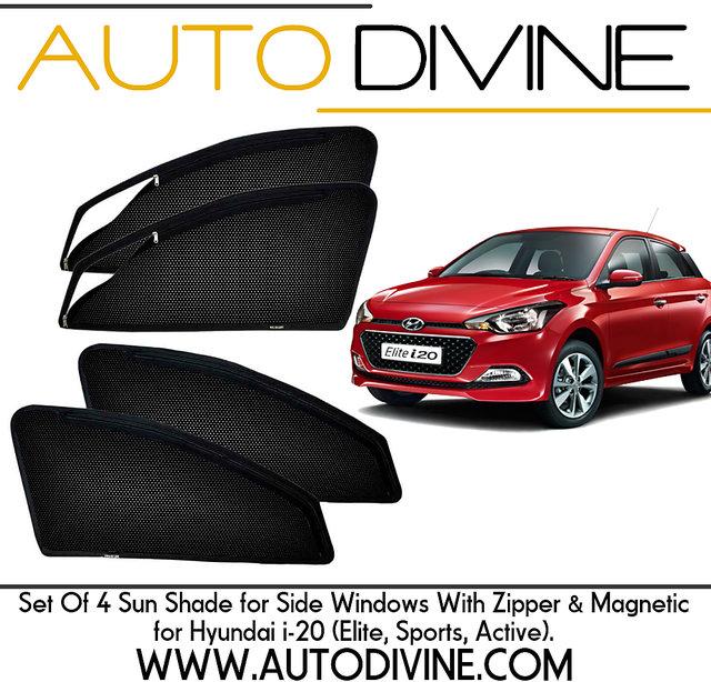 Buy Hyundai I 20 Car Accessories Side Window Zipper Magnetic Sun