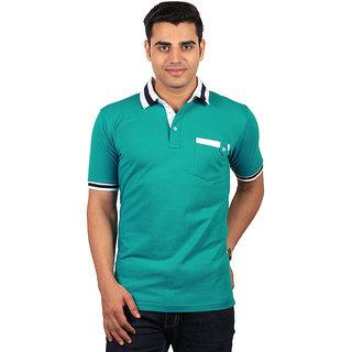 visach Green V-Neck T-Shirt(VSN-MMPT-SHRT105Grn)