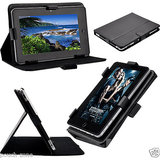 7&7 Flip Cover & Stand Carry Case Cover Pouch For Iball Slide 7236 7 Inch Black