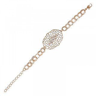 The99Jewel by JewelMaze Gold Plated Zinc Alloy Austrian Stone Adjustable Bracelet-AAB0323