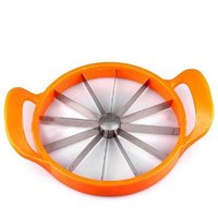 Melonslicer Steeln Stainless, n Rust Proof Steel With Non-Slip Safe Handles with's Watermelon Slicer.