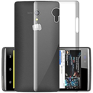 Micromax Canvas Fire 4G Q411 Transparent Soft Back Cover