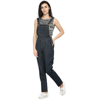 Tunic Nation Denim Blue Solid Dungaree
