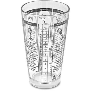 Godskitchen Transparent Recipes Mixing Cocktail Shaker Glass - 13.52 oz (400 ml)