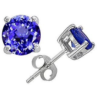 Exquisite Tanzanite Earring In 925 Silver