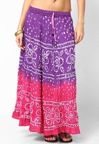 Rajasthani Sarees Pretty Bandhni Cotton Long Skirt