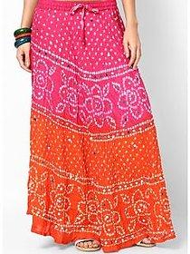 Rajasthani Sarees chic Jaipuri Bandhej Cotton Skirt