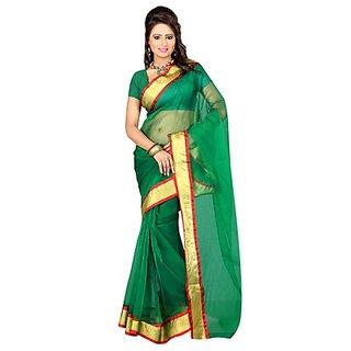 Ansu Fashion Grand Green Colour Chettinad Saree