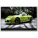Green Porche Sports Car Poster By Artifa