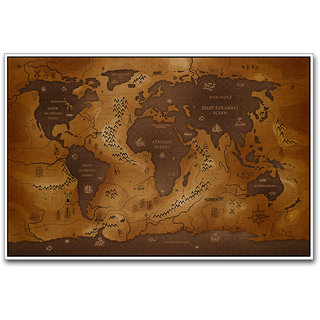 Ancient world map poster by artifa in india shopclues online ancient world map poster by artifa gumiabroncs Image collections