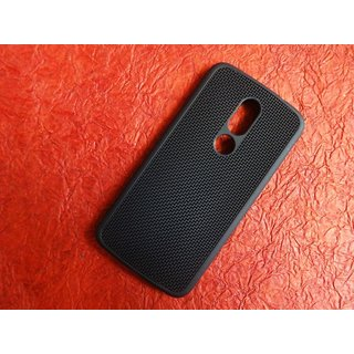 Motorola Moto M XT1663 Net Jali Pattern Soft Rubberised Back Case Cover