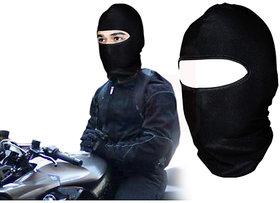 Stretchable Balaclava Face Mask For Bike Riding Comfort - Black Colour