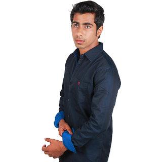 BarryLine London Black Plain Casual Shirt