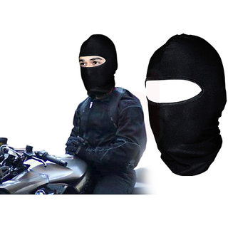 Stretchable Balaclava Face Mask For Bike Riding Comfort - Black Colour