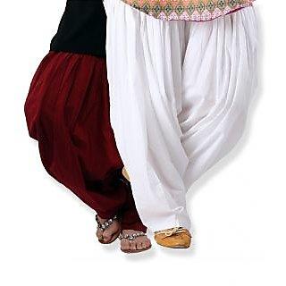 KRISO Stunning Set of 2 Cotton Patiyala Salwar